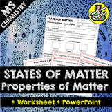 States of Matter: the properties of matter