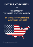 States of USA Fact File Worksheets