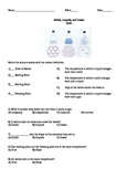 States of matter quiz (Solids, Liquids , Gases)  3rd - 5th grade