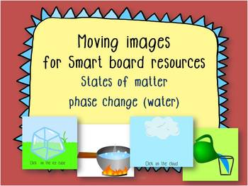 States of matter phase change (water life cycle) Moving images for Smartboard