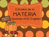 States of matter sorting game / Estados de la materia