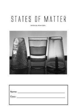 States of matter student worksheets, unit of work and teachers guide