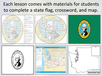 States of the USA - Nebraska to Wyoming - Activity Sheets