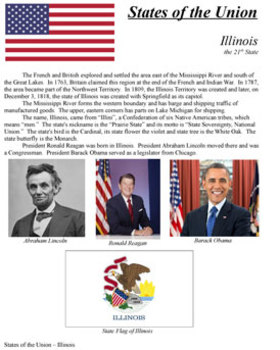 States of the Union - IL, AL, ME, MO, AR