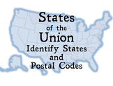 States of the Union:  Identify U.S. States and Postal Codes
