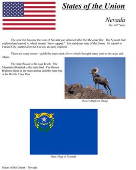 States of the Union - NV, NE, CO, ND, SD