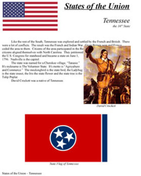 States of the Union - TN, OH, LA, IN, MS