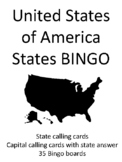 States of the United States of America BINGO!