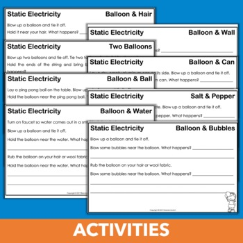 Static Electricity Activities, Texts, and Experiment