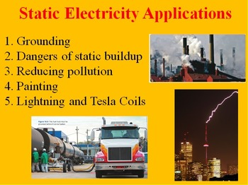 Static Electricity Applications - Electricity PowerPoint L