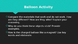 Static Electricity Balloon Activity Questions