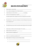 Static Electricity Bill Nye Video Worksheet