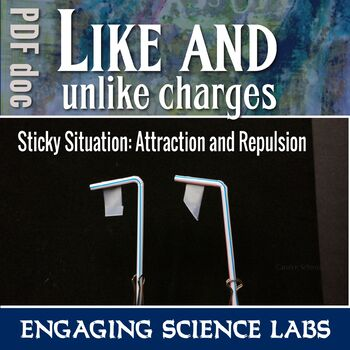 Static Electricity Lab: Like and Unlike Charges; Attractive & Repulsive PDF ONLY