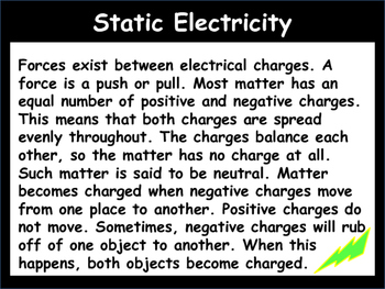 Static Electricity Power Point