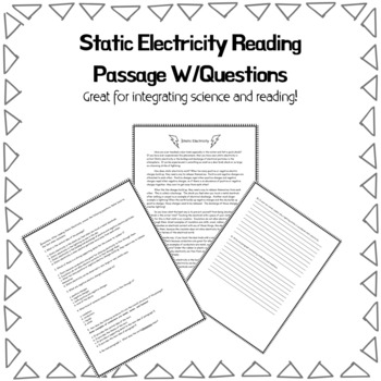 Electricity Reading Passage Worksheets Teaching Resources