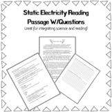 Static Electricity Reading Passage with Questions