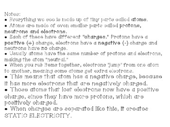 Static Electricity Smartboard file & Experiment