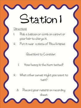 Static Electricity Science Stations