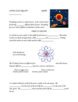 Static Electricity Student Note Taking Guide