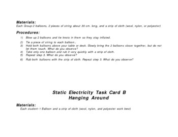 Static Electricity Task Cards Utilizing Balloons