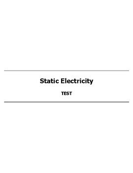 Static Electricity Test