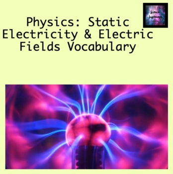 Static Electricity and Electric Fields Vocabulary