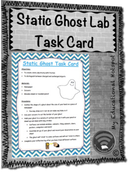 Static Ghost Science Task Card Activity