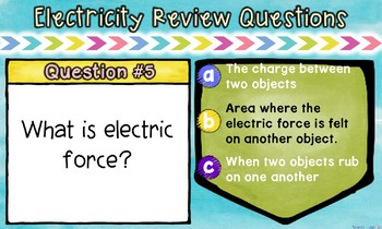 Static and Current Electricity Printable, Digital and BOOM Review Task Cards