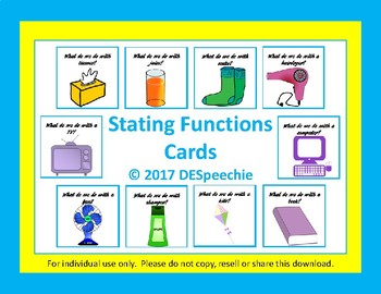 Stating Functions Cards