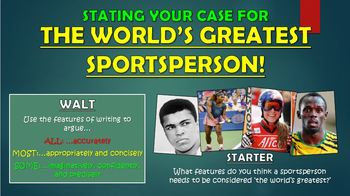 Stating Your Case for the World's Greatest Sportsperson!