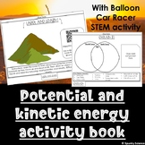 Potential and Kinetic Energy Tabbed Book with Balloon Racer