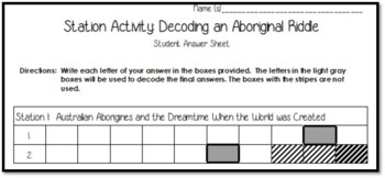 Station Activity: Decoding an Aboriginal Riddle