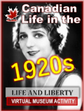 Canada and the Roaring Twenties - A Virtual Museum Activity! 2 Versions Included
