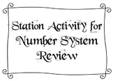 Station Activity for Number System Review