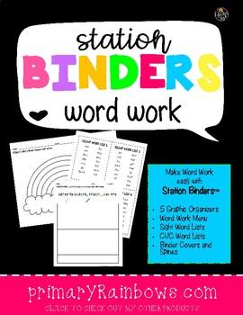 Station Binders™ Word Work, super easy little prep!