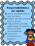 Station Captain Responsibilities Checklist FREEBIE (Spanis