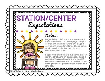 Station/Center Expectations