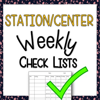 *Free* Editable Station / Centers Checklists