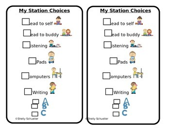 Station Choice Cards