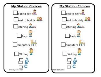 Station Choice Cards