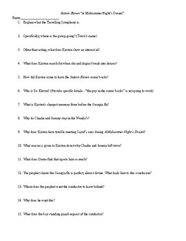 Station Eleven Quiz Pack