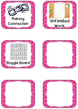 Station Icons Pink Chevron
