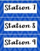 Station Labels - Chevron Style {FREEBIE}