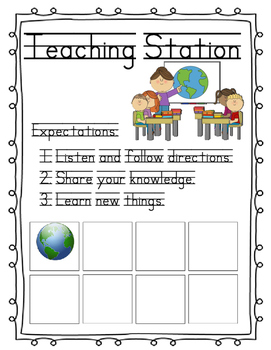 Station Markers: For the Self-Contained Classroom And Work Tub Labels and Icons!