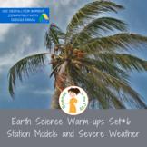 Station Models and Severe Weather Exit Ticket or Bell Ringer Task Card Set