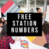 Station Numbers Freebie