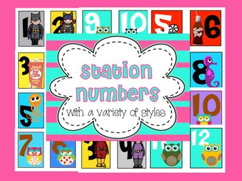 Station Numbers: Superheroes, Owls, Kiddettes, Hollywood/Movie Stars, and Ocean