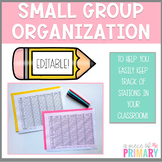 Station Organization: Small Group Check In