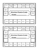 Station Punch Cards (Editable)
