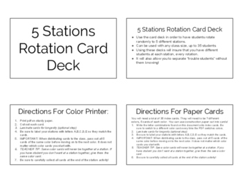 Station Rotation Card Decks Bundle